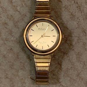 Vintage Lucien Piccard Dufonte Gold Tone Watch